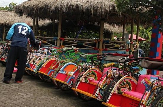 becak mini floating market lembang