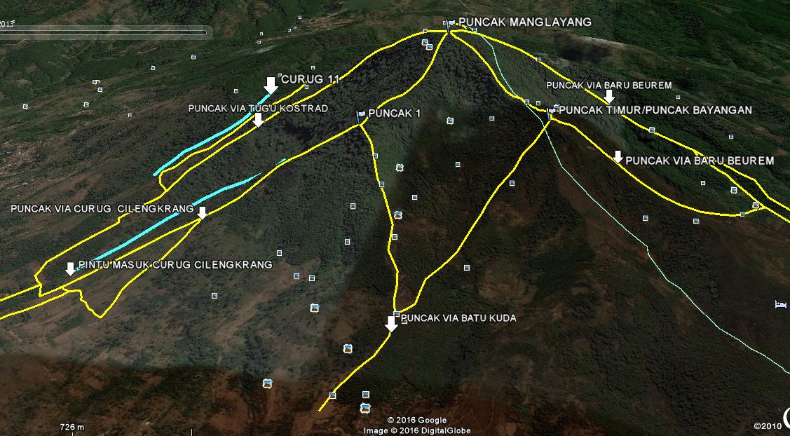 jalur pendakian gunung manglayang bandung