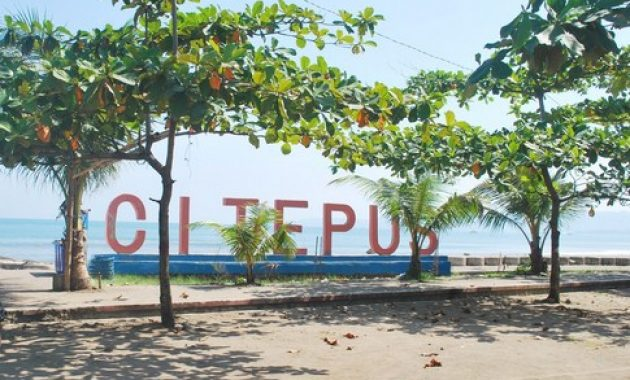 wisata pantai citepus di jabar
