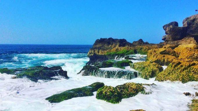 wisata pantai kedung tumpang di jatim