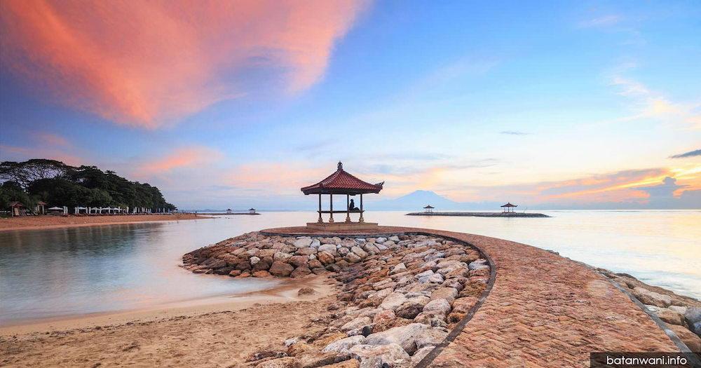 wisata pantai sanur di badung bali