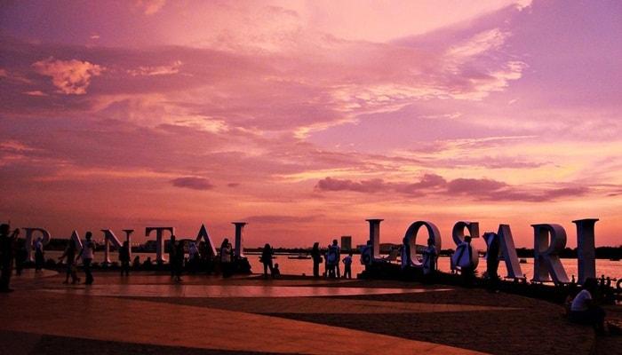 wisata sunset pantai losari
