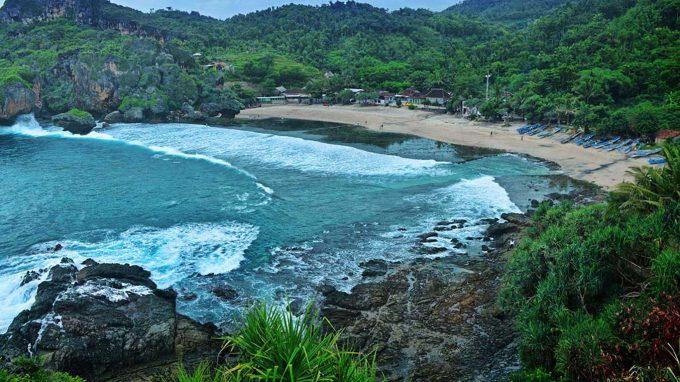 info alamat rute wisata pantai siung jogja
