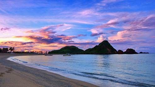 info sunset wisata pantai kuta lombok ntb
