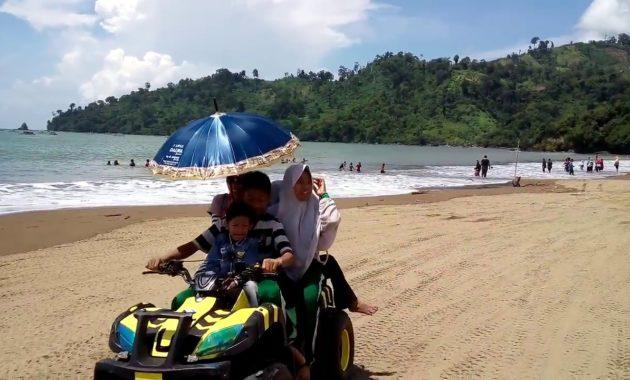 obyek wisata pantai gemah wahana permainan