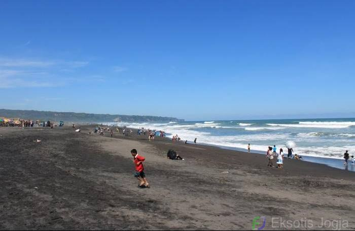 pantai pasir hitam pantai depok