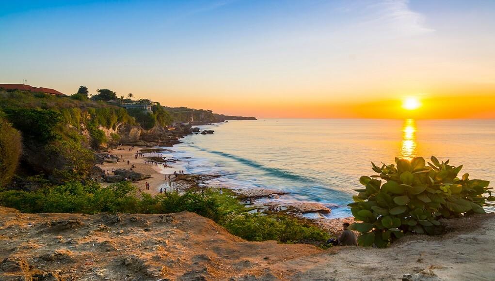 sunset pantai tegal wangi